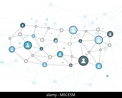 Social Network Vector Design Concept Illustration with User Icons