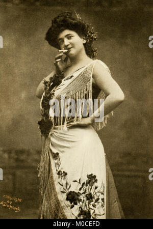 This photo shows the opera singer Emma Calve in the title role of Bizet's Carmen. She was born in 1866 in Decazeville, - Stock Photo