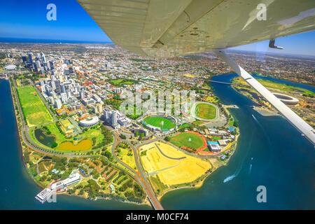 Perth scenic flight - Stock Photo