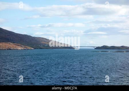 Scalpay Bridge, Isle of Harris, Western Isles, Outer Hebrides, Scotland, United Kingdom - Stock Photo