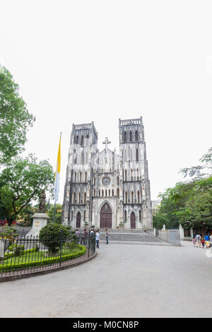 St. Joseph's Cathedral, Hanoi, Vietnam - Stock Photo