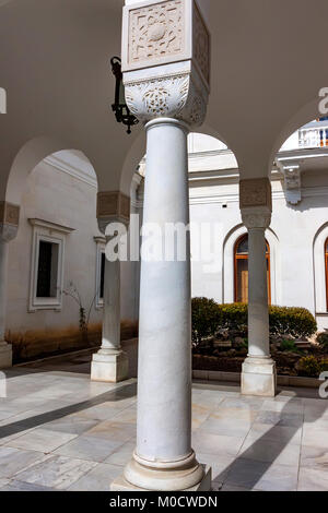 LIVADIA, RUSSIA - MARCH 21, 2011: White columns of Livadia Palace - Stock Photo