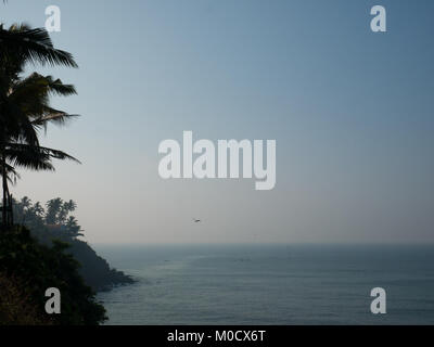 Just after the sunset in Varkala beach, Kerala, South India - Stock Photo