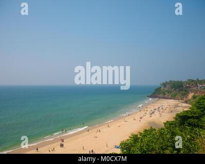 Varkala beach, Kerala, South India - Stock Photo