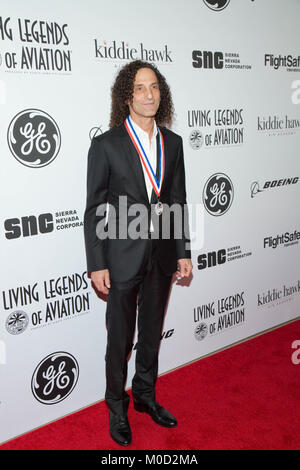 Beverly Hills, USA. 19th Jan, 2018. Kenny G attends the 15th Annual Living Legends Of Aviation Awards at The Beverly - Stock Photo