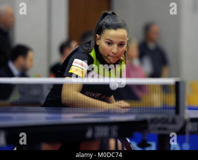 Deutschland. 20th Jan, 2018. Anastasia Bondareva, (TV Busenbach) GES/ Tischtennis/ Bundesliga: TV Busenbach - TTK - Stock Photo