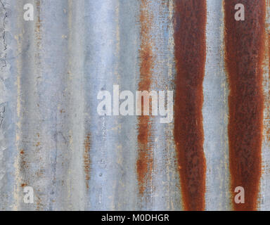 old rusty galvanized zinc. texture background - Stock Photo