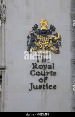 royal courts of justice london - Stock Photo