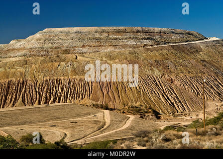 Stockpiles at Freeport-McMoRan Copper & Gold Inc. Tyrone Mine near Silver City, New Mexico, USA - Stock Photo