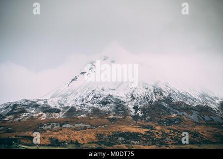 Mount Errigal in Donegal - Ireland - Stock Photo