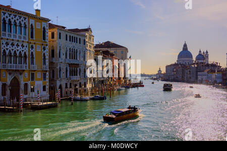 The majestic grand canal Venice. VeniceItaly 2015 - Stock Photo