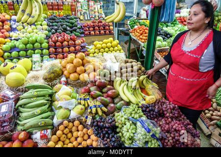 Argentina, Buenos Aires, Mercado San Telmo, covered indoor market, marketplace vendor vendors seller sellers, stall - Stock Photo