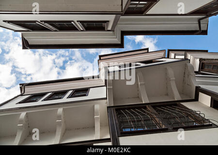 Houses in the old town of Ohrid in Macedonia. - Stock Photo