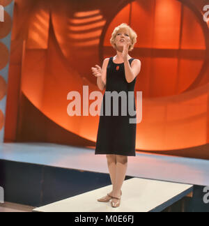 PETULA CLARK English singer and film actress singing her hit song Downtown on BBC TV's Top of the Pops in 1964. - Stock Photo