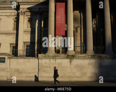 An early  morning walk in front of The National Gallery
