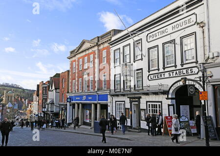 Angel Hotel, High Street, Guildford, Surrey, England, Great Britain, United Kingdom, UK, Europe - Stock Photo