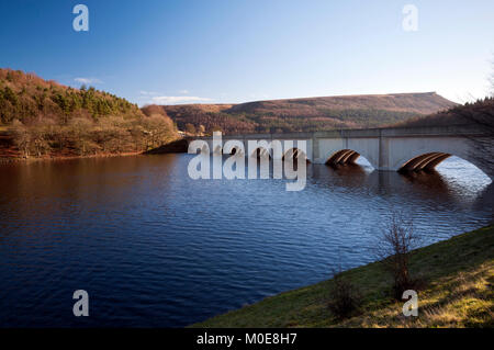 Ashopton Viaduct over Ladybower Reservoir in the Peak District National Park - Stock Photo
