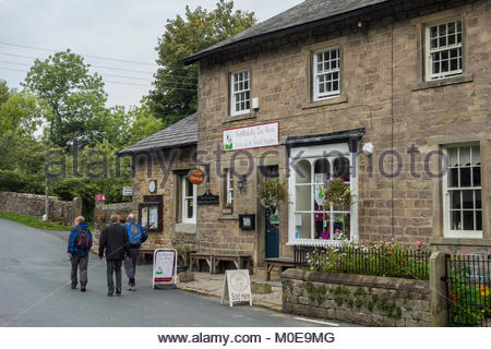 Puddleducks tea rooms and post office in Dunsop Bridge in the Hodder Valley, Forest of Bowland, Lancashire - Stock Photo