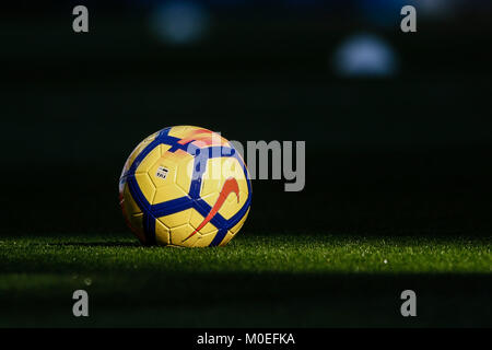 Madrid, Spain. 21st Jan, 2018. Ball of the match. La Liga match between Real Madrid vs Deportivo de la Coruna at - Stock Photo