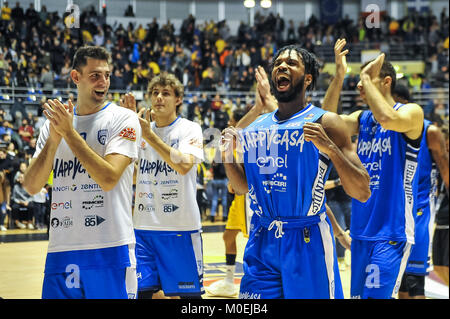 Turin, Italy. 21st Jan, 2018. During the CAMPIONATO BASKET SERIE A 2017/18 basketball match between FIAT AUXILIUM - Stock Photo