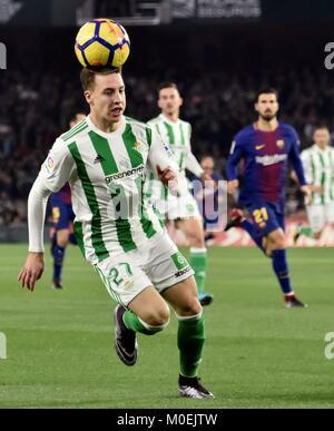Sevilla, Spain. 21st Jan, 2018. Betis' Spanish striker Francis Guerrero in action during a Spanish league La Liga - Stock Photo