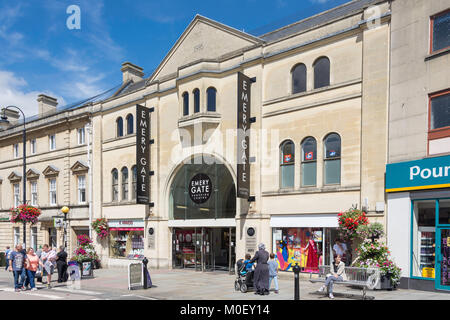 Entrance to Emery Gate Shopping Centre, High Street, Chippenham, Wiltshire, England, United Kingdom - Stock Photo