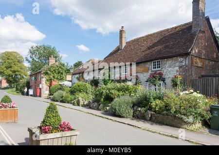 High Street, Avebury, Wiltshire, England, United Kingdom - Stock Photo