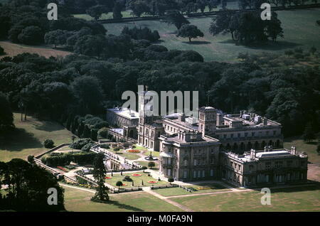 AJAXNETPHOTO. OSBORNE, EAST COWES, ISLE OF WIGHT, ENGLAND. - HISTORIC ROYAL RESIDENCE - AERIAL VIEW OF OSBORNE HOUSE - Stock Photo