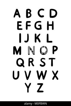 Handwritten font in typographic modern sans serif style font. - Stock Photo