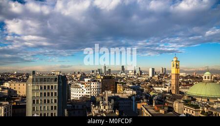 Milan, Italy, view on the skyline - Stock Photo