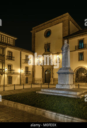 Faculty of Psychology, University of the city of Oviedo, Principality of Asturias, Spain. - Stock Photo