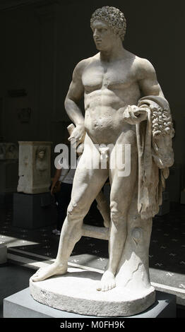 Marble statue of a youthful Hercules, Roman AD 68-98, Flavian Period, The Metropolitan Museum of Art (The Met), - Stock Photo