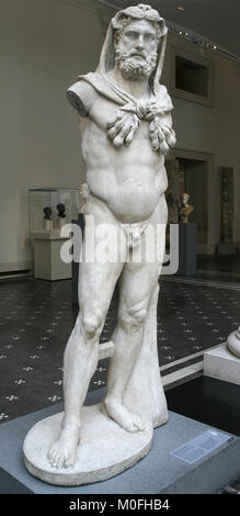 Marble statue of a bearded Hercules Roman AD 68-98, The Metropolitan Museum of Art (The Met), Upper Manhattan, New - Stock Photo