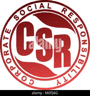 CSR. Corporate social responsibility rubber stamp - Stock Photo