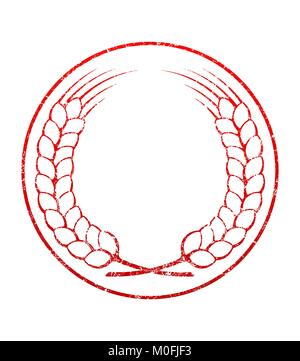 empty rubber stamp template stock vector art illustration vector
