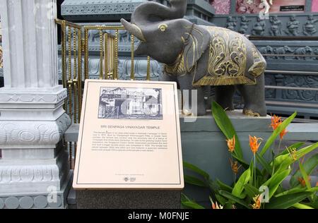 Sri Senpaga Vinayagar Temple in Singapore - Stock Photo