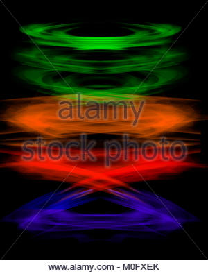 Digital Photoshop Created Rainbow Colors Black Background Wallpaper
