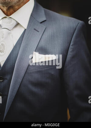 The cloth in the jacket of the groom - Stock Photo