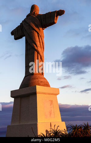 Christ the King statue, Garajau, Madeira - Stock Photo