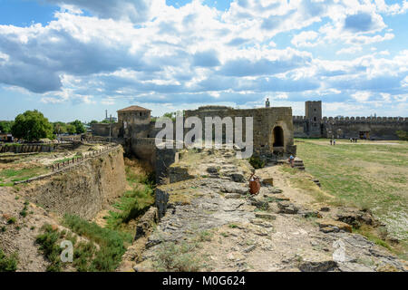 The impregnable ditch that defended the fortress - Stock Photo