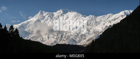 Nanga Parbat is lying on the borderline between Pakistan and India is known as King of Mountains. It is the world's - Stock Photo