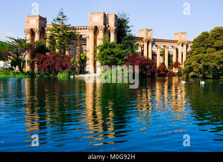 Palace of fine Arts in San Francisco California - Stock Photo