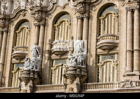 Gran Teatro de la Habana, Cuba - Stock Photo