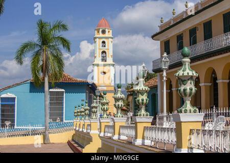 Plaza Mayor in Trinidad, Cuba - Stock Photo
