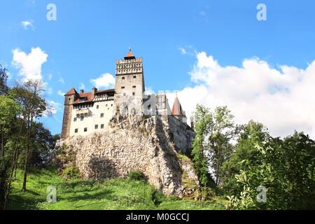 Medieval Castle of Bran (Dracula's castle), Brasov, Transylvania, Romania, Europe - Stock Photo