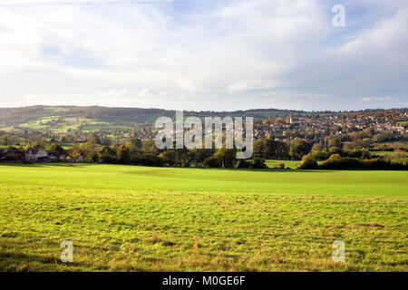 Autumn view from Bulls Cross over the Painswick Valley, Painswick, Cotswolds, Gloucestershire, England, UK - Stock Photo