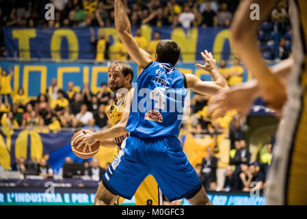 Turin, Italy. 21st Jan, 2018. during the Serie A an Basketball Match. FIat Torino Auxilium vs Happy Casa Brindisi. - Stock Photo