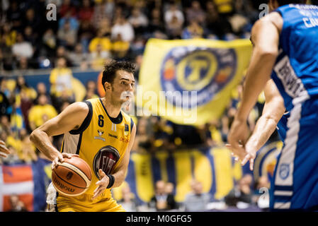 Turin, Italy. 21st Jan, 2018. Sasha Vujacic during the Serie A an Basketball Match. FIat Torino Auxilium vs Happy - Stock Photo