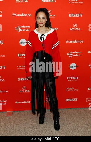 Park City, UT, USA. 22nd Jan, 2018. Sasha Lane at arrivals for THE MISEDUCATION OF CAMERON POST Premiere at Sundance - Stock Photo