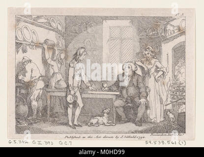 Illustration to Henry Fielding's 'Adventures of Joseph Andrews, and his friend Mr Abraham Adams' MET DP872053 - Stock Photo